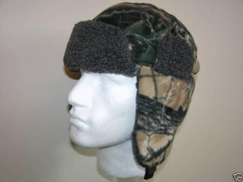 Da Uomo Mimetico Cappello Imbottito in Pile molto caldo taglia 59cm L Nuovo