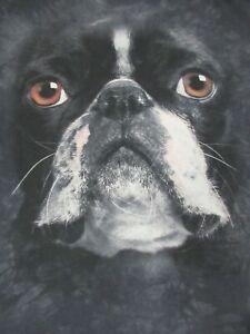 The-Mountain-Marca-Bulldog-Francese-Grigio-Tinto-a-Nodi-T-Shirt-D294