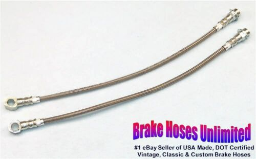 FRONT STAINLESS BRAKE HOSES Chevrolet Monte Carlo 1979 1980 1981 1982 1983 1984