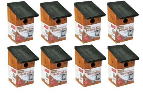8x en bois nichoir oiseau maison petits oiseaux mésange bleue robin sparrow 3cm trou