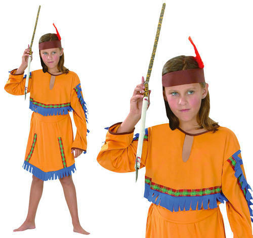 Childrens Indian Girl Fancy Dress Costume Native Pocahontas Outfit XL
