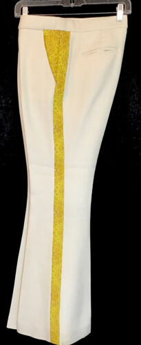 Stella Mccartney Flared Pants Cream Cotton Blend Y