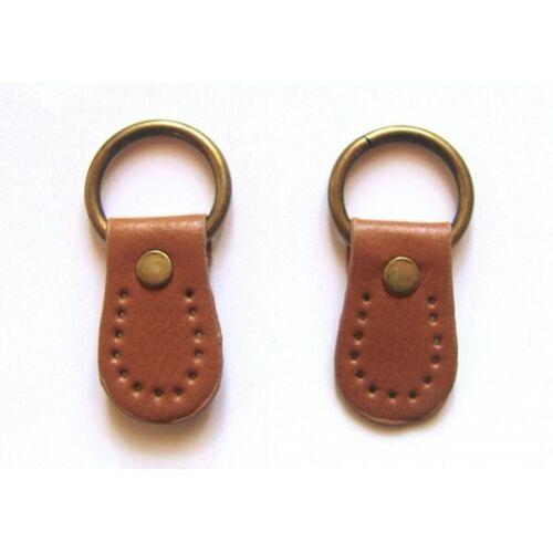 camel paire de boucles cuir synthétique pour anse de sac 26mmx45mm