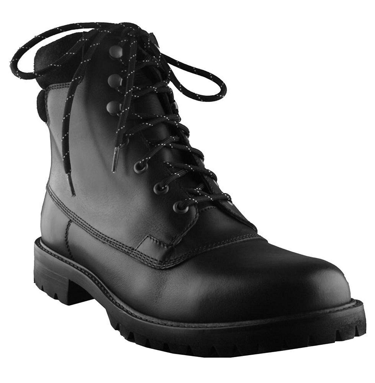 Hunter Mens Ross schwarz Echte Leder Kampf Anker Lace Up Work Hiking Stiefel NW