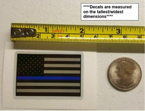 Thin Blue Line Deputy Sheriff Retired 6 pt Star Reflective Decal Police Officer