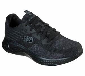 Black-Skechers-Shoes-Men-Memory-Foam-Walk-Train-Sport-Comfort-Casual-Woven-52758