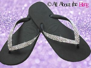 869734eba Image is loading Havaianas-flip-flops-with-450-Swarovski-Crystals -Rhinestone-