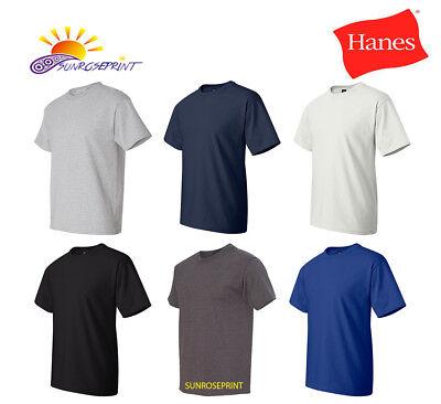 Hanes Beefy-T TALL TAGLESS T-Shirt 100/% Cotton 518T Mens LT XLT 2XLT 3XLT 4XLT