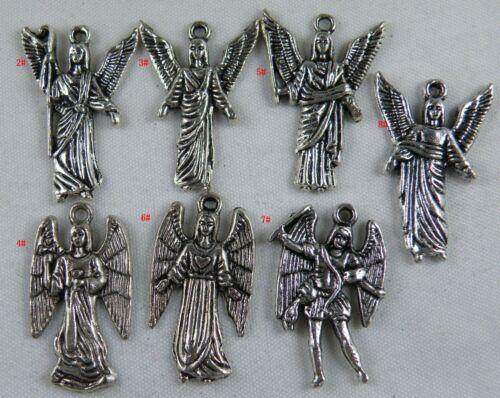 20pcs Tibetan Silver Angell Charms Craft DIY 8style-1 24-27mm L14