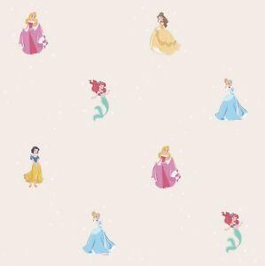 Disney-Tapete-Prinzessin-Cindarella-Arielle-Kindertapete-cremebeige-R3025-3-3-6
