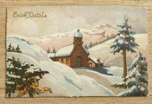 Antiche Immagini Di Natale.Cartolina Antica Di Buon Natale Viaggiata Anno 1940 Ebay