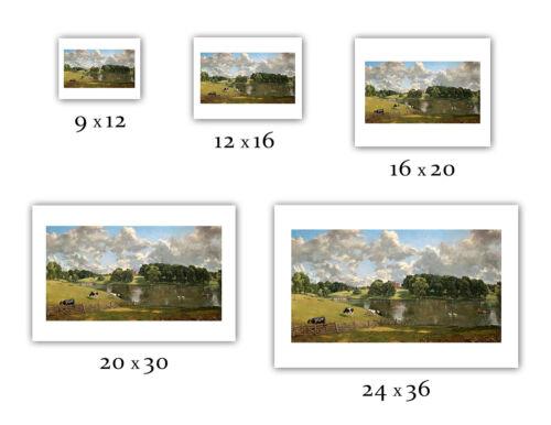 "1816 John Constable : /""Wivenhoe Park — Giclee Fine Art Print Essex/"""