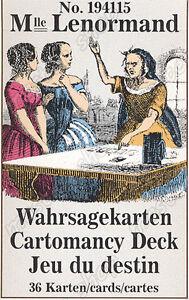 MILE-LENORMAND-1941-CARTOMANCY-TAROT-CARDS-3-LANGUAGES-121
