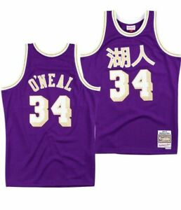 Details about Mitchell And Ness Lakers Shaquille O'Neal Swingman Jersey Mens