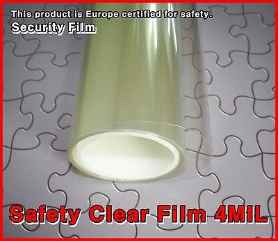 Wide:76cm/4MIL/Safety Clear Film/Window/Tint/Security/Solar/Long/Roll/Choice Siz