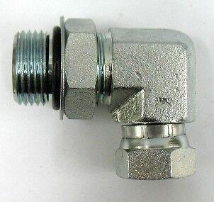 Straight Adapter 1-1//2 in Male JIC 37/° Flare x 1-1//2 in Male O-Ring Boss 8 Units Steel Brennan
