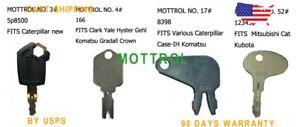 50 KEYS For Caterpillar 5P8500 0964753 0966198 8V4404 9G2777 New Style w// Logo