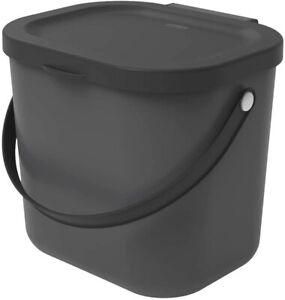 ROTHO Müll Eimer Küche Mülltrennung Kunststoff 6L Rest Abfall anthrazit schwarz