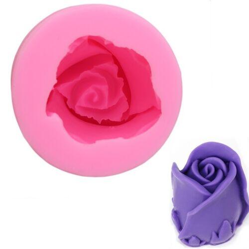 3D Silicone Rose Flower Soap Mold Mould Cake Topper Chocolate Fondant Decor FA
