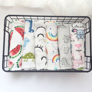 Newborn Baby Muslin Blanket Bedding Blanket Swaddle Wrap Blanket Soft Bath Towel