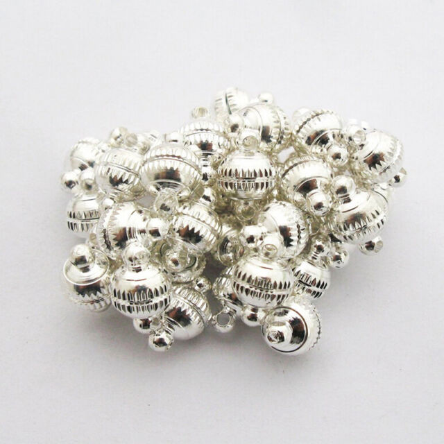 Silver Strong Magnetic Jewelry Clasps  Finding Bead 20sets For Jewelry Making9C