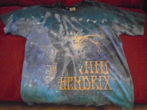 e8dfac10a0644 Details about RARE Jimi Hendrix TIE DYE SHIRT large Authentic licensed  purple haze Rock psych