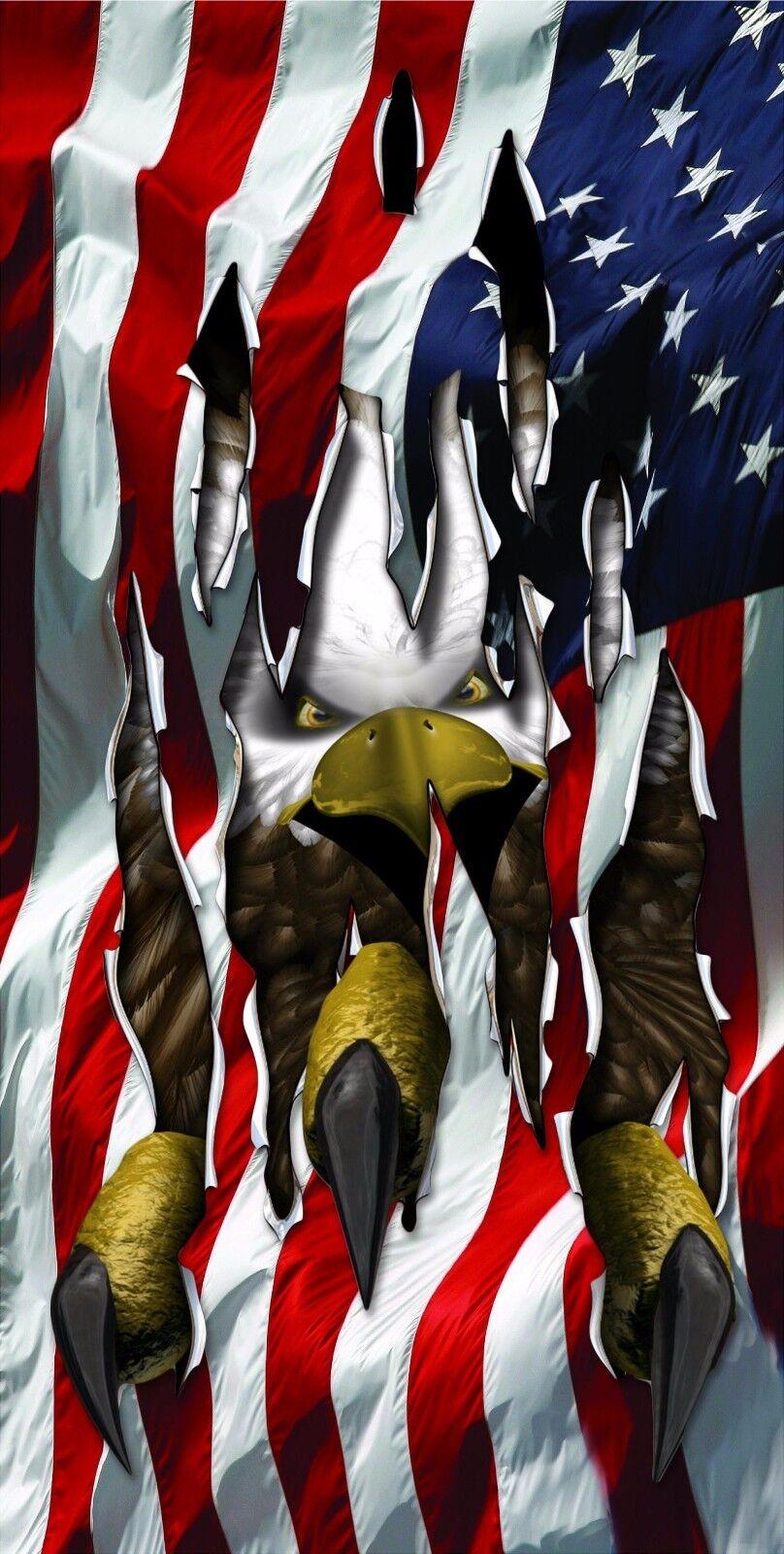 American Eagle Claws Cornhole Decal Wrap Set