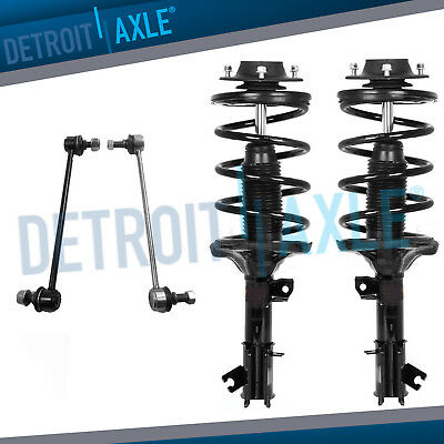 Front Driver and Passenger Side Quick-Strut Complete Assembly Sway Bar Links for 2003-2006 Hyundai Santa Fe 3.5L Detroit Axle