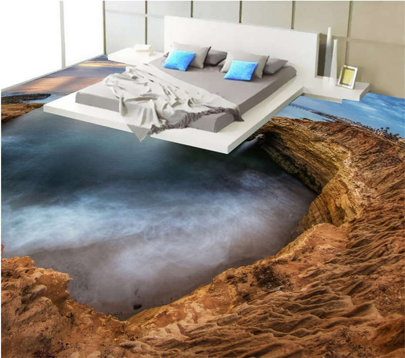 A Great Inlet 3D Floor Mural Photo Flooring Wallpaper Home Print Decoration