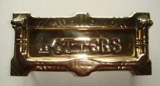 Restored Original Victorian Brass Letter Box & Door Pull of Circa 1890
