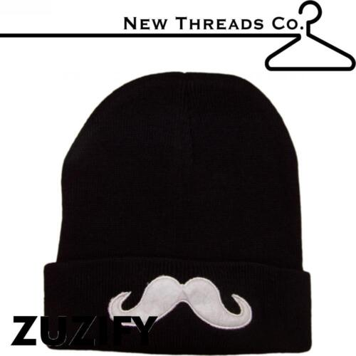 2009 New Threads Co Mustache Applique Beanie
