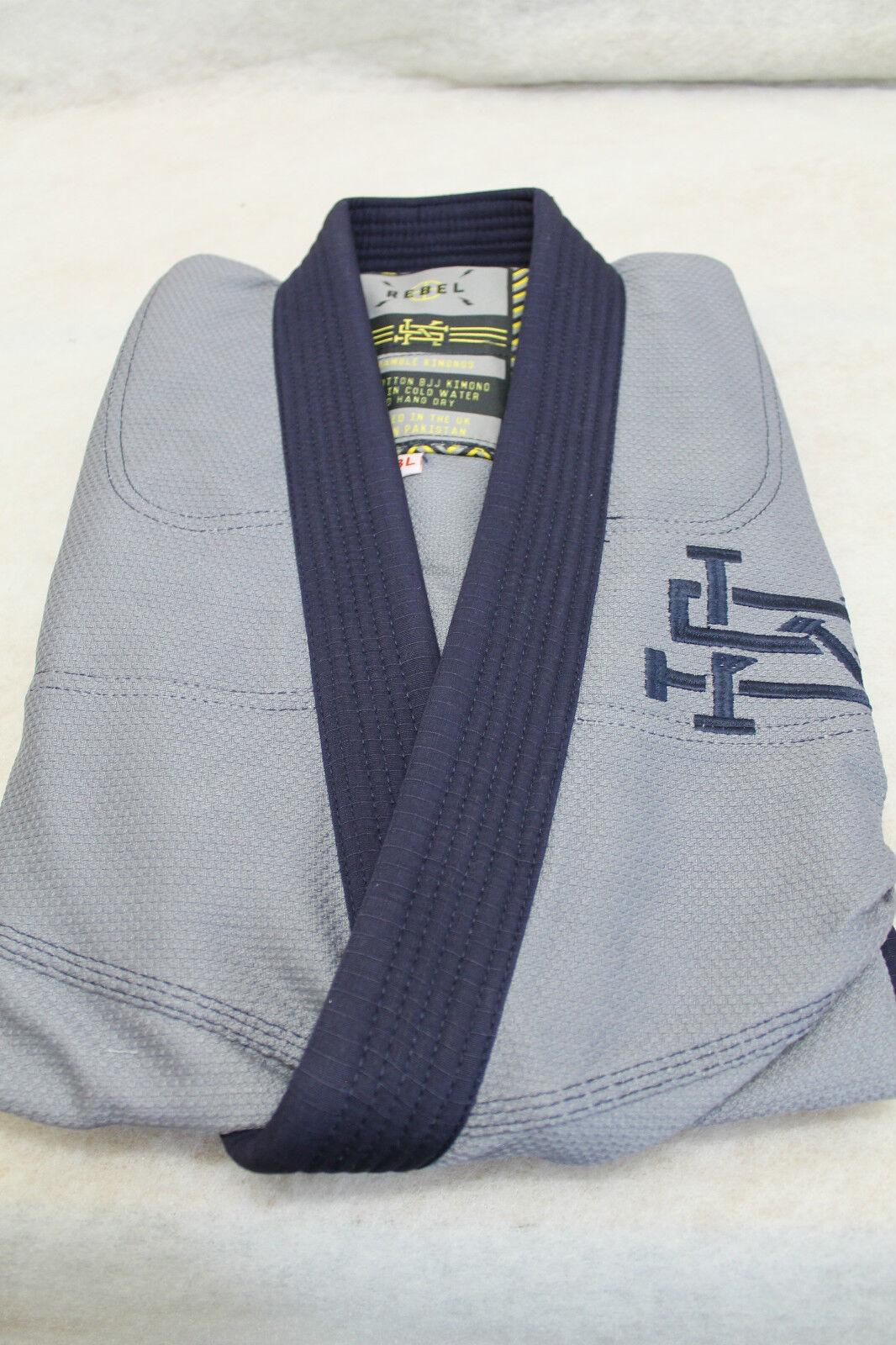 NEU  Scramble  Rebel  Jiu Jitsu Gi Kimono - Blau   Grau