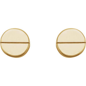 14K-White-Gold-Solid-Gold-Rose-Gold-or-Silver-Screw-Stud-Studs-Post-Earrings