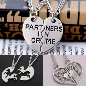 ea2ffd3c50 Image is loading Stainless-Steel-Couple-Love-Heart-Pendant-Necklace-Mother-