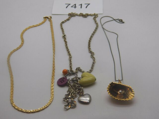 Vintage Jewelry LOT OF 3 Necklaces GOLD TONE 7417