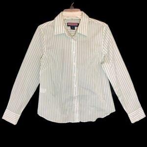 Vineyard Vines Womens Long Sleeve Button Down Striped Shirt Size 10