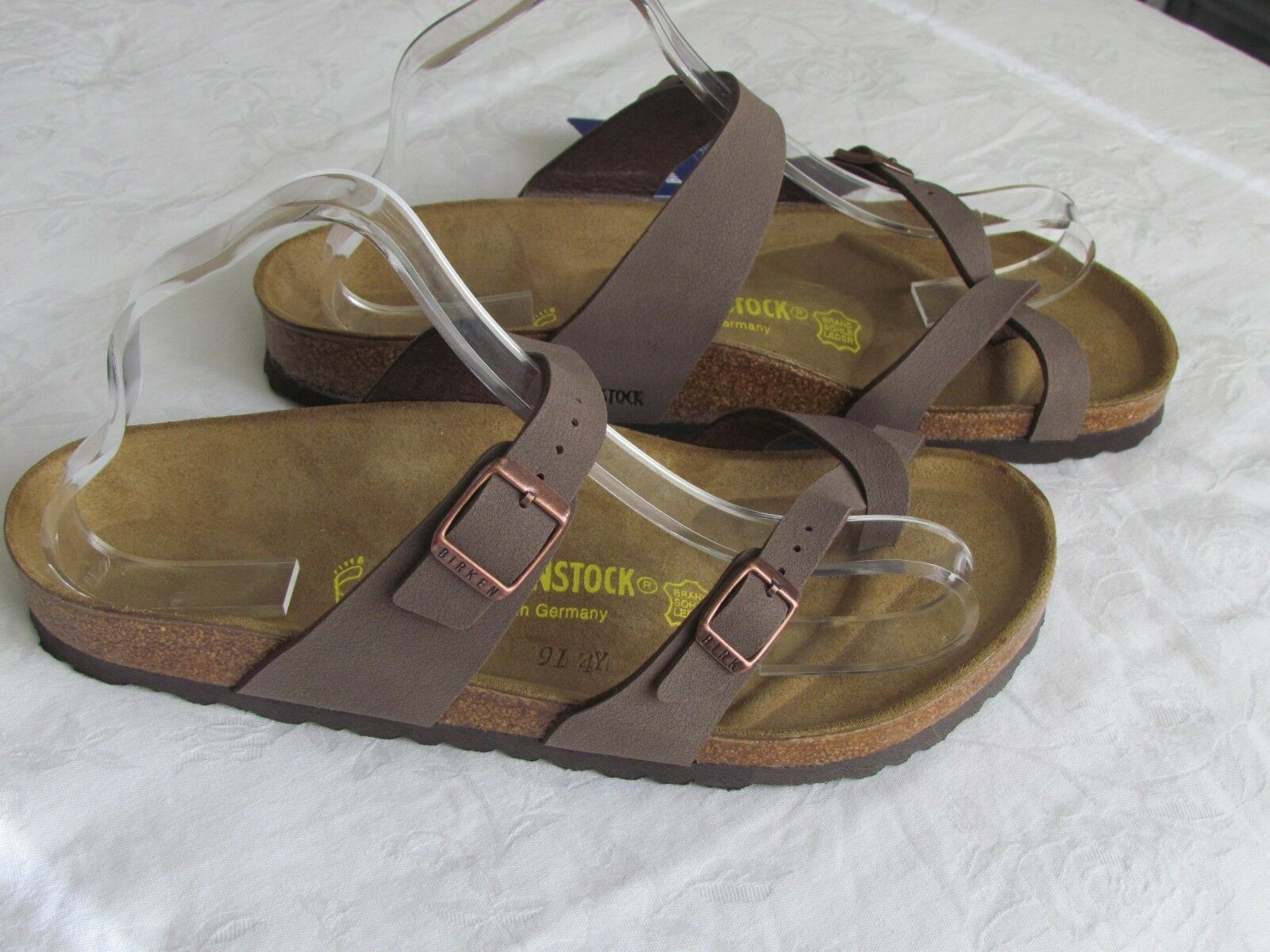 Nuevo Birkenstock Mayari Damas Mocca Marrón Toe Post Sandalias UK Size 7.5