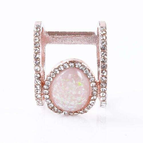 Women Double Layer Resin Ring Wedding Engagement Ring Gift T