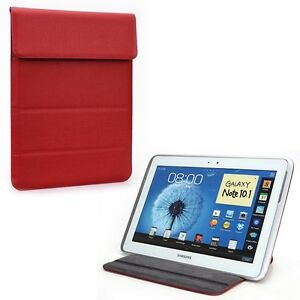 Red-Faux-Leather-Wrapper-Pouch-Pocket-Cover-for-iPad-Smart-Tablet-9-034-9-7-034-inch