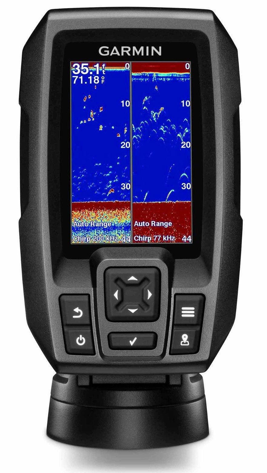 Garmin Striker 4 Fishfinder CHIRP with Dual-Beam CHIRP Fishfinder Transducer 010-01550-01 15324c