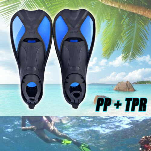 Swimming Fins Adjustable Foot flippers Submersible Silicone For Kids Adult Plus