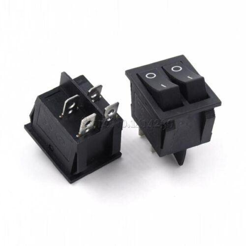 3 Position 16A 250V 20A Rocker Power Switch 25*31mm KCD4-201 4 Pin 6 Pin 2