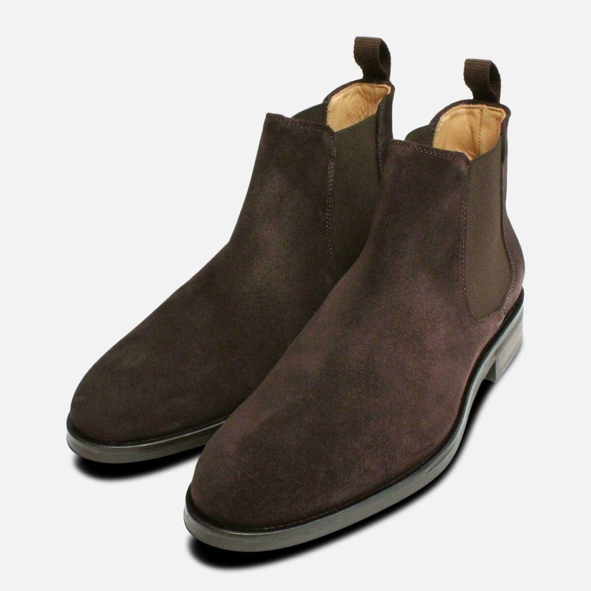 Marrón ante sin Cordones botas por John blancooo Zapatos