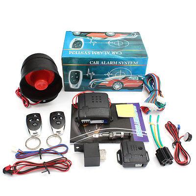 Universal Coche Sistema Alarma Cierre Centralizado Entrada Sin Llave 2 Remote