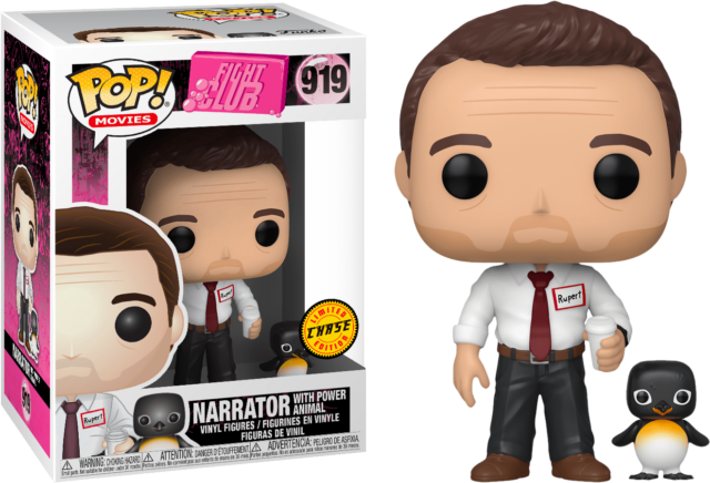 Narrator with Power Animal CHASE FIGHT CLUB Funko Pop Vinyl New in Mint Box +P/P