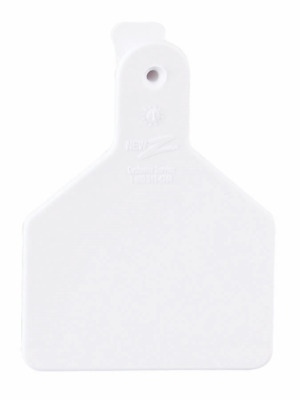 """Z-TAG CALF TAG ONE PIECE 2-3//8/"""" W x 3-1//4/"""" H Blank Short Neck PINK 25 Count"""