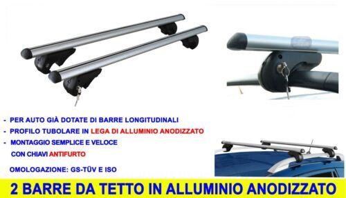 Barre Portatutto Fiat Sedici 16 da 2005/>2014 kit set per tetto auto alluminio in