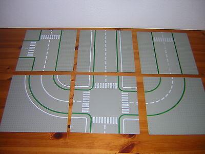 LEGO  PLATTEN  32X32 ZUR AUSWAHL Strassen Strassenplatten grün//dunkelgrau HK