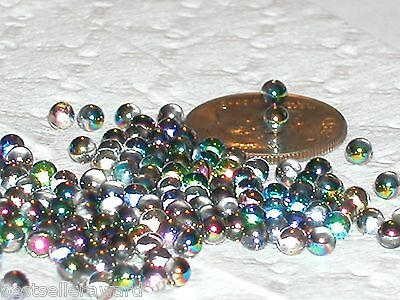 30pc Miniature glass Vitrail tiny crystal Balls fairy glitter glass bubbles 3mm