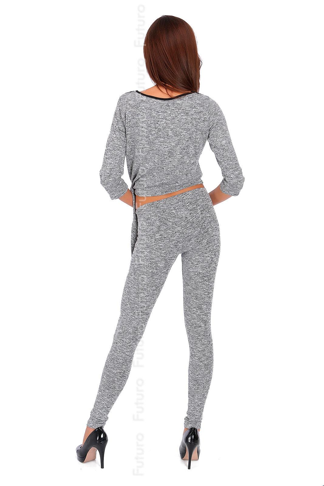 Damen Trainingsanzug Trainingsanzug Trainingsanzug 2-teiliges Set Bauchfreies Top Hose Trikot Suit Größen 8-14 | Bestellung willkommen  896834